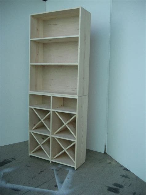 stumasa wine rack bookcase solid pine