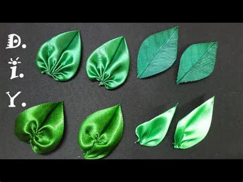 d i y satin ribbon leaves tutorial myindulzens