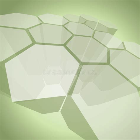 minimalist company profile design 3d transparent polygon structure abstract background