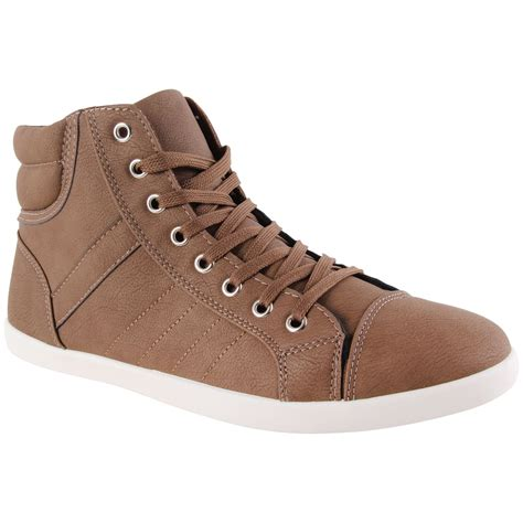 mens designer lace up boots new mens designer lace up high hi top fashion trainers