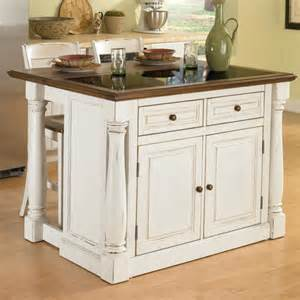 kitchen islands with granite tops home styles monarch kitchen island set with granite top