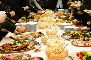 New years day party buffet