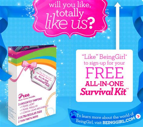 Jk Sweepstakes Promo Code - 187 free survival kit from beinggirl her savings