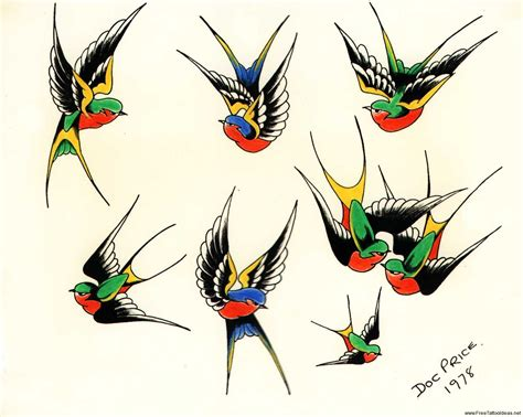 traditional swallow tattoo designs bird tattoos designs free to and print