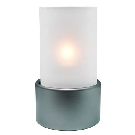 Glass Candle Base Frosted Glass Silver Base Refill Complete Liquid Wax
