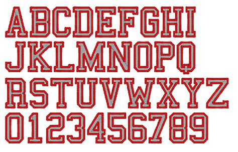 College Letter Font Fireside Threads Home Format Fonts Fireside Threads Embroidery Fonts College Sports 2 Color 0