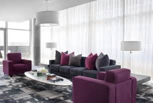 Purple And Gray Home Decor by 10 Purple Modern Living Room Decorating Ideas Interior