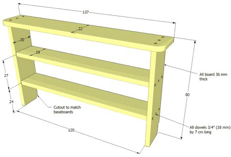 woodworking shelf plans