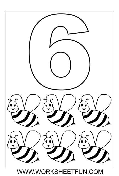 number coloring   ten worksheets kindergarten