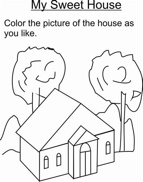 coloring pages my house my home colouring pages
