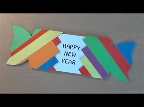 quot happy new year quot silvesterkarte zum basteln youtube