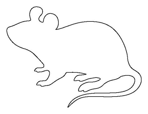mouse pattern use the printable outline for crafts