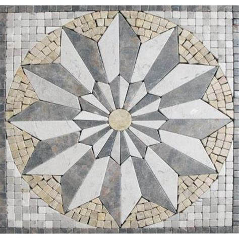 marble tile venti blend medallion 12 in x 12 in tumbled