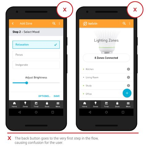 design app with gps 3 1 allow users to quot go back quot easily in one step chapter