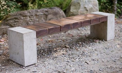 concrete outdoor benches 9 best images about wood and concrete bench on pinterest
