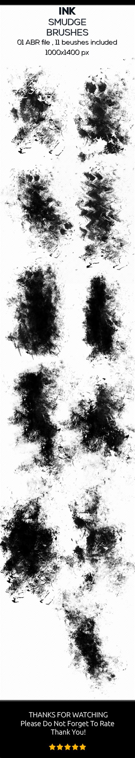 tattoo ink smudge ink smudge brushes by big art graphicriver