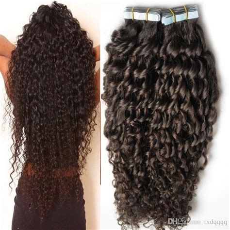 kink curly tape extensiions remy tape in hair extensions kinky curly virgin brazilian