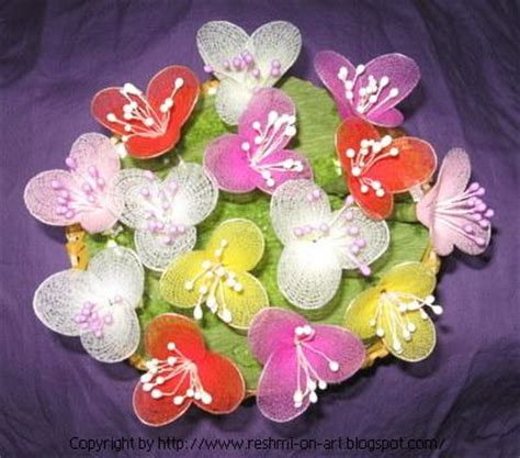 homemade flowers flower making by stocking cloth pegham