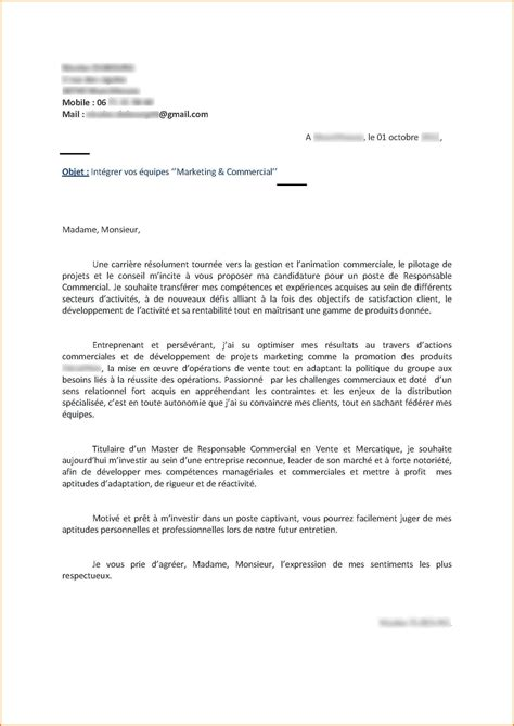 Exemple Lettre De Motivation Responsable Commercial 5 Lettre De Motivation Manager Commercial Format Lettre