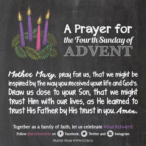 prayer   fourth sunday  advent ouradvent advent prayers advent catholic christmas