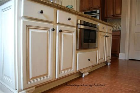 Updated Kitchen Cabinets adding feet to cabinets updated kitchen microwave drawer