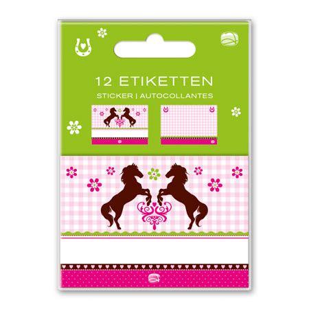 Aufkleber Heft by Schulheft Aufkleber Pferd 12er Set