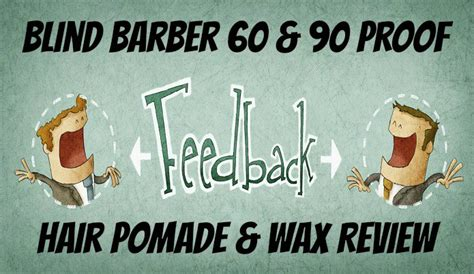 Blind Barber 90 Proof Hair Pomade blind barber 60 90 proof hair pomade wax review
