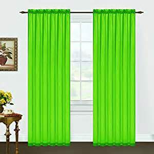 Lime Green Kitchen Curtains Decor A Pair Of Lime Green Sheer Rod Pocket Curtain Panels 55 Quot X Quot 84 Lime Green Home