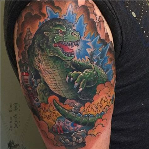 godzilla tattoos 63 best joshua ross s portfolio images on