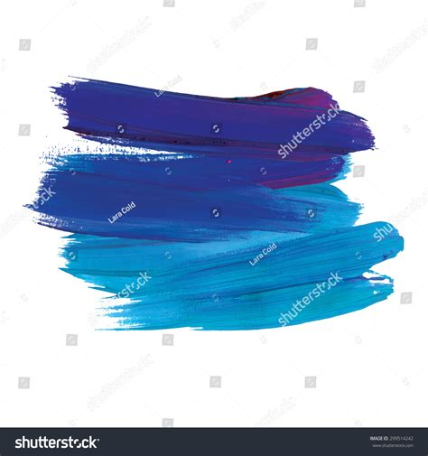 acrylic paint stain brush stroke acrylic paint stain stroke stock vector
