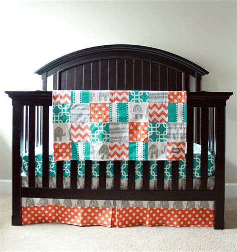 Grey And Turquoise Crib Bedding Custom Crib Bedding Reserved For Ildiko The Two Turquoise And Grey
