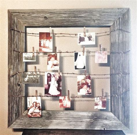diy wire frame christmas decorations rustic wood wire clothespin picture frame wedding inspiration pictures