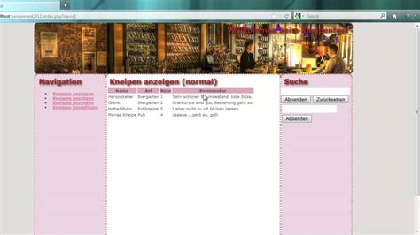 tutorial php y html5 kneipentest tutorial einleitung html5 css3 php mysql