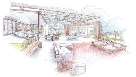 outdoor indoor house sketch