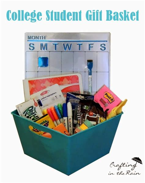 Best Gift Cards For College Students - college gift basket crafting in the rain