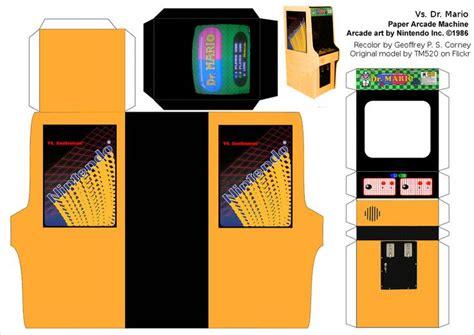 Arcade Papercraft - papercraft templates nintendo papercraft dr mario