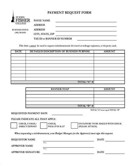 request for payment form template sle request forms sle software budget request form