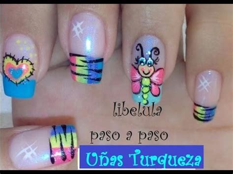 imagenes uñas decoradas libelulas decoraci 243 n de u 241 as lib 233 lula paso a paso decoracion como