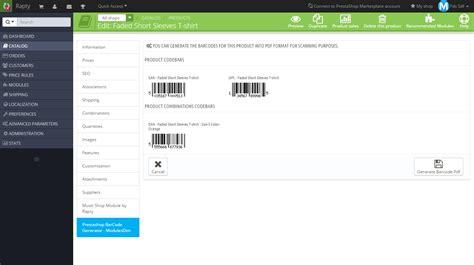 prestashop theme generator software prestashop barcode generator paid modules themes