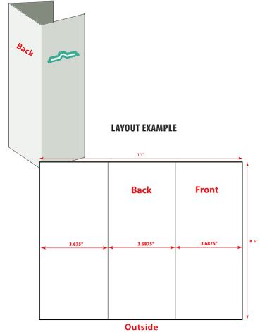 8 5 X 11 Card Template For Tri Fold Card by 8 5x11 Brochure Template Brochure Templates Central