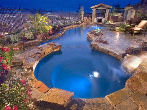 pool landscaping ideas hgtv in ground vs above ground pools outdoor design