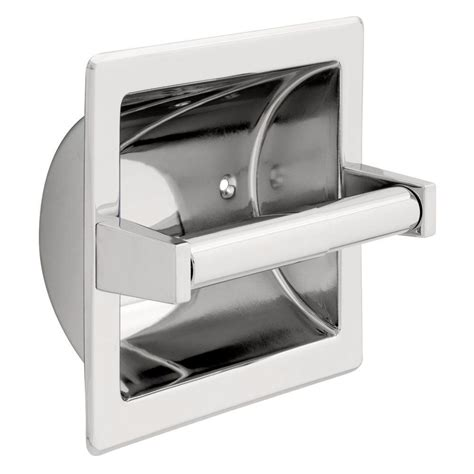 recessed toilet paper holder with shelf franklin brass recessed toilet paper holder with metal