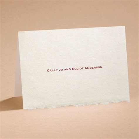 card envelope ecru deckle edge note card and envelope invitations by