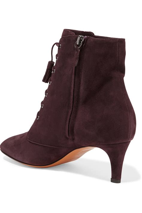 bruno magli boots bruno magli lace up suede ankle boots lyst
