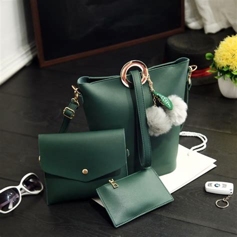 Turun Harga Tas Fashion 3 In 1 jual b2758 green tas fashion set 3in1 grosirimpor