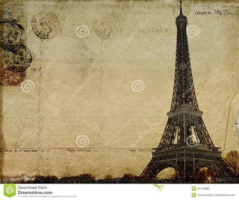 imagenes retro paris postal del vintage de par 237 s stock de ilustraci 243 n imagen