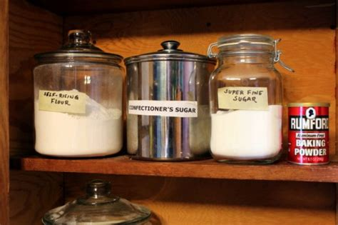 Shelf Of Confectioners Sugar by Creating A Baking Center