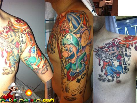 mario tattoo mario tattoos page 2 your favourite plumber in ink form