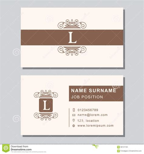 modern design elements business card template with abstract monogram design elements modern emblem letter l