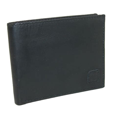 rugged wallet mens leather bifold wallet with flip id by rugged bifold passcase wallets s